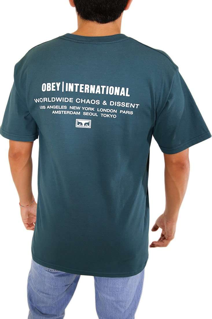 Obey T Shirt Inernational Chaos & Dissent