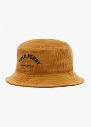 Fred Perry Arch Branded Corduroy Bucket Hat