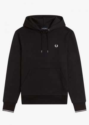 Fred Perry Tipped Hooded Sweatshirt