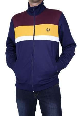 Fred Perry J9543 Colourblock Track Jacket