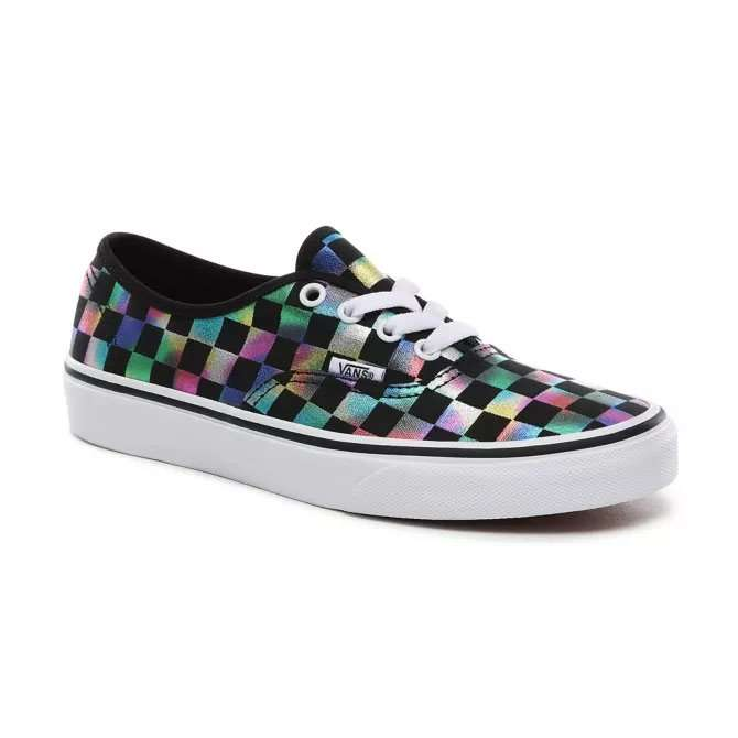 Vans Damen Classic Sneaker Authentic Iridescent Check